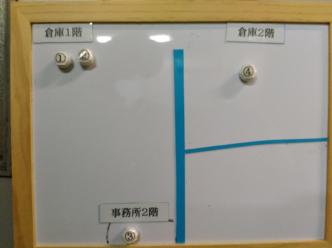 番号管理用の白板
