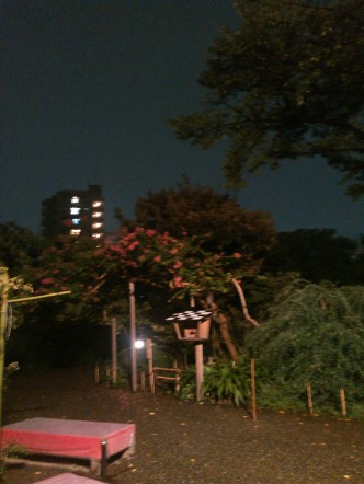 夜の百花園
