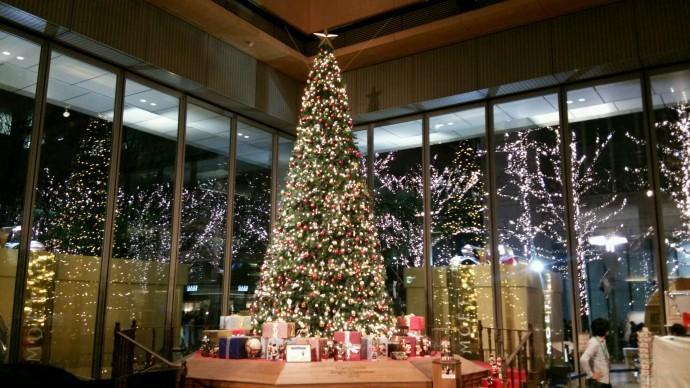 イルミネーションとクリスマスツリー