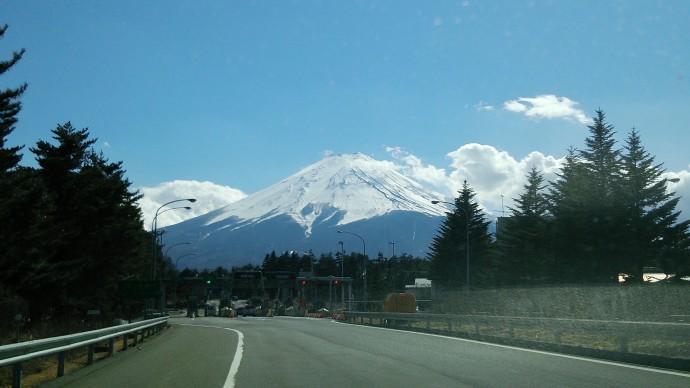 きれいに見えた富士山