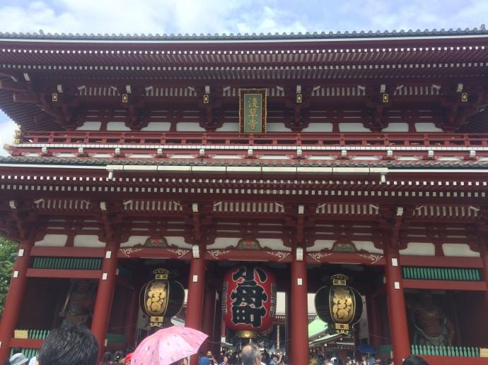 浅草寺宝蔵門の小舟町大提灯です