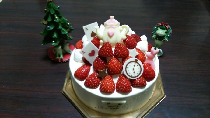 ふしぎの国のアリスをモチーフにしたケーキ