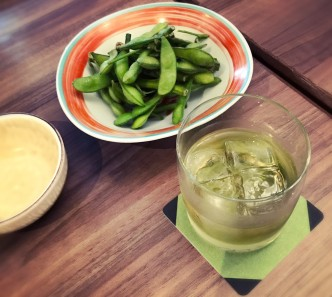 緑茶の梅酒です。